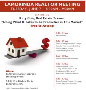 Lamorinda Realtor Marketing Meetings for Bay Area Real Estate