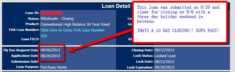 fast loan closings pleasant hill