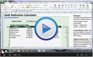 Jason Wheeler's Debt Reduction Sheet Training: Worksheet Download