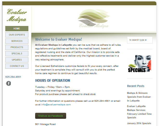 evaluer_medspa_website_page