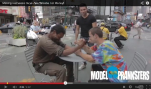 PRANKSTERS ASK HOMELESS TO ARM WRESTLE FOR CASH