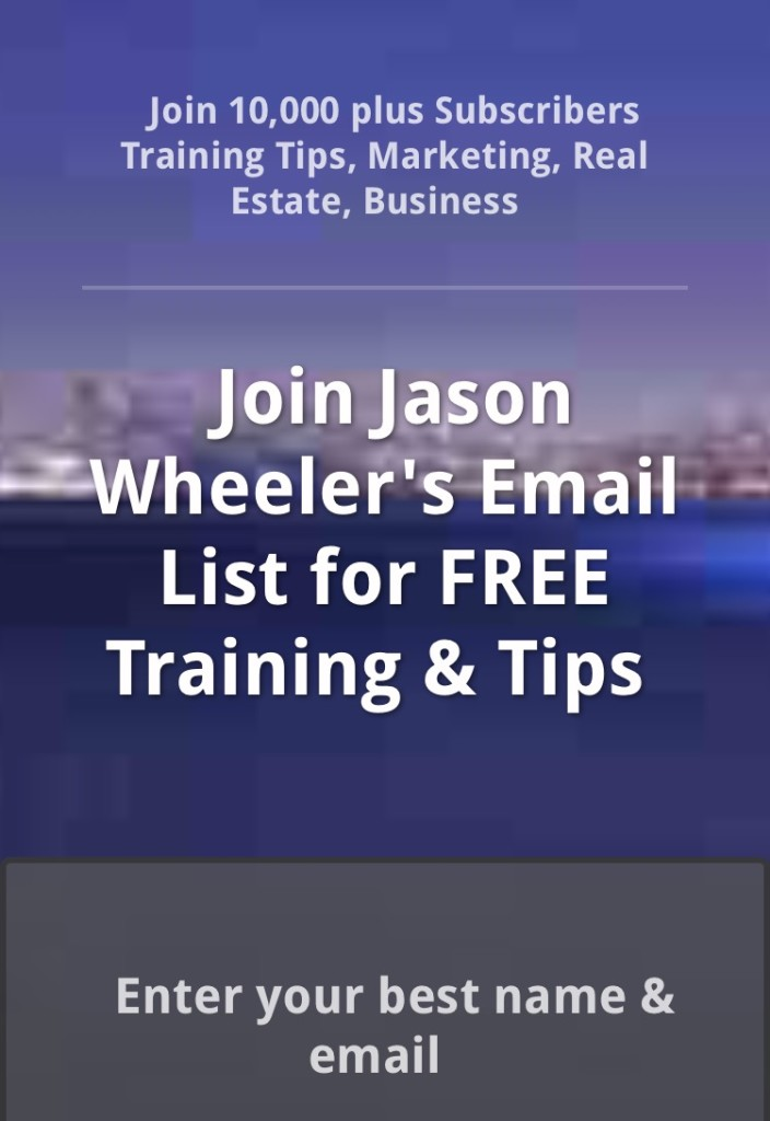 join jason wheelers email list