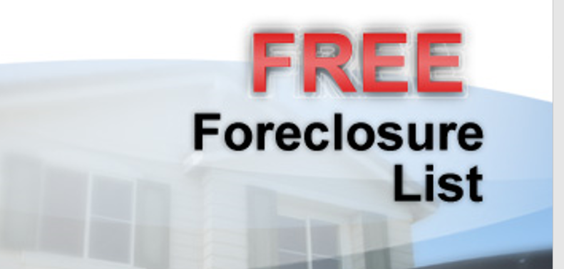 FREE WEEKLY LIST OF PRE-FORECLOSURES FOR SALE